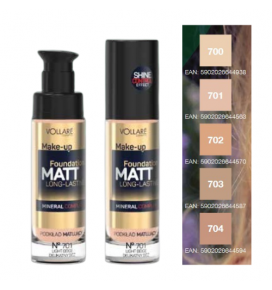 VOLLARE makiaž. pagr. MATT FOUNDATION, Nr. 73, Honey, 30 ml