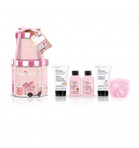 Baylis & Harding Beauticology Special Delivery Pink rinkinys Mini su kempine
