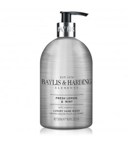 Baylis & Harding Elements Lemon & Mint skystas muilas, 500 ml